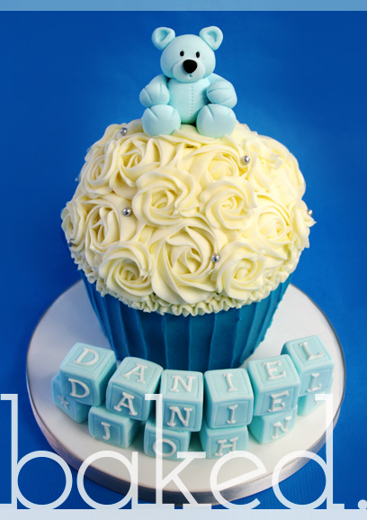 Baby Bear Giant Christening Cupcake