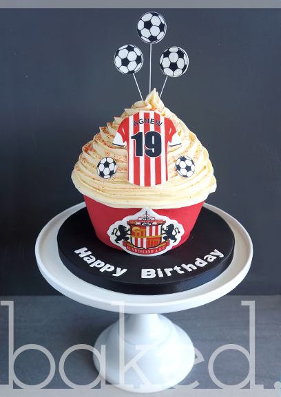 SAFC Birthday Giant Cupcake