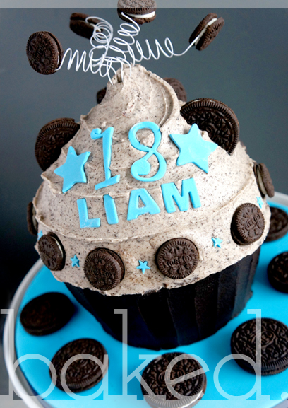 Oreo Cookie Giant Cupcake