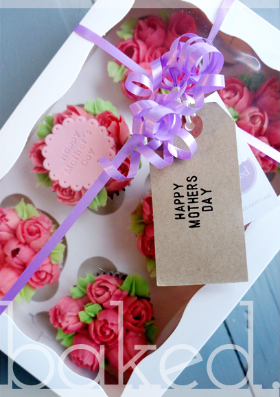 Mother's Day Rose Bud Cupcakes