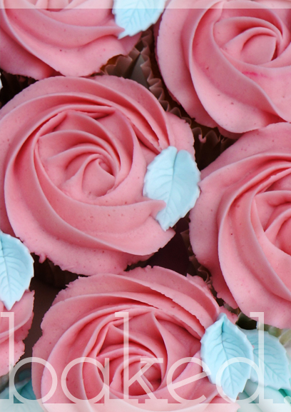 Mother's Day Rose Cupcakes