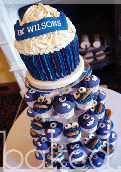 Cookie Monster & Minion Wedding Cake