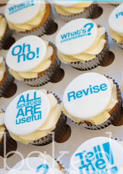 Printed Quote Cupcakes