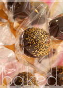 Chocolate and gold cake pops