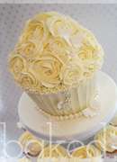 Pearl Giant Cupcake Wedding Tower