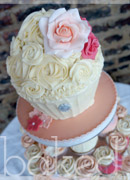 Peach and Coral Vintage Cupcake Tower