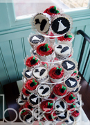 Bride and Groom Cupcake Wedding Tower